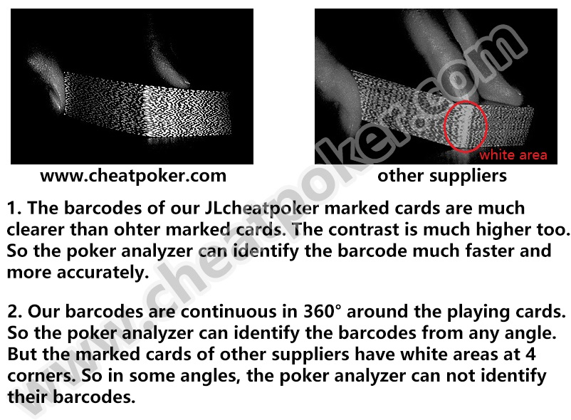 barcode marked playing cards poker cheating devices cheat poker