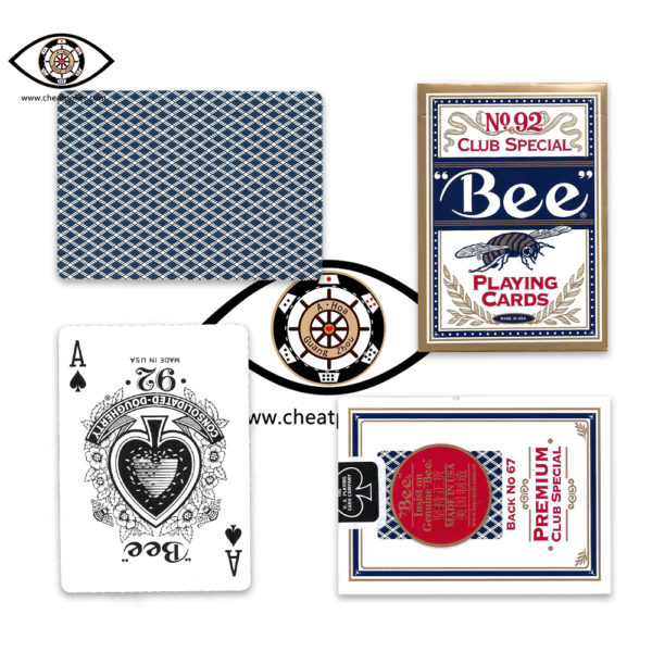 bee, marked cards, cheat poker, tag cards