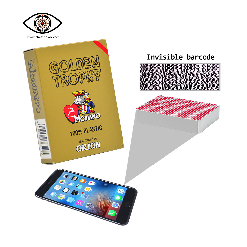 modiano cheat poker marked playing cards