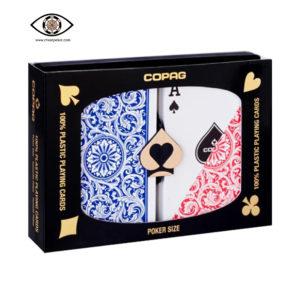 red blue copag marked cards poker size regular index