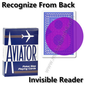 AVIATOR marked playing cards for contact lenses