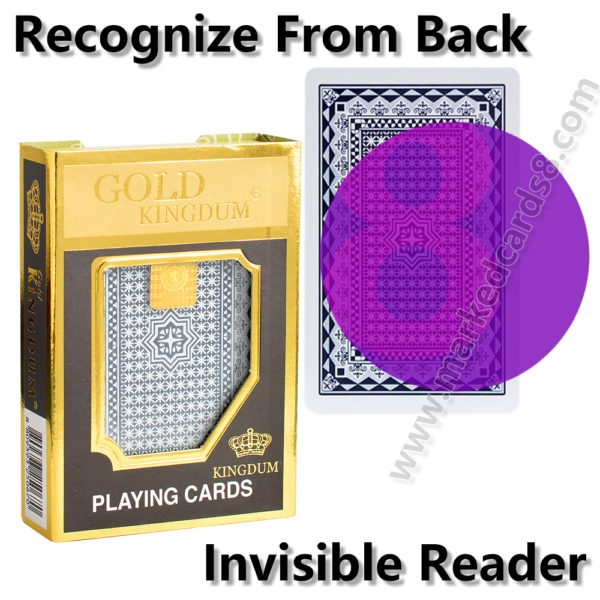 Gold marked cards cheating poker contact lenses