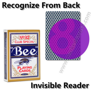 bee marked playing cards for contact lenses cheat poker