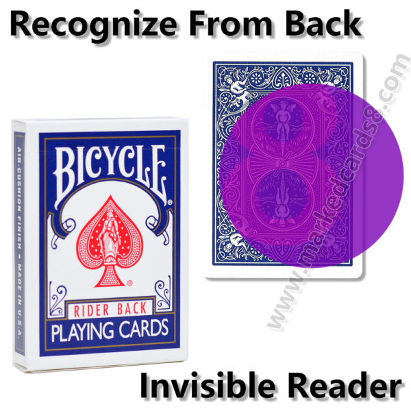 bicycle marked playing cards for contact lenses poker cheating cards