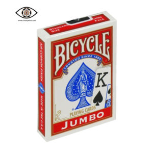 jumbo bicycle marked cards red